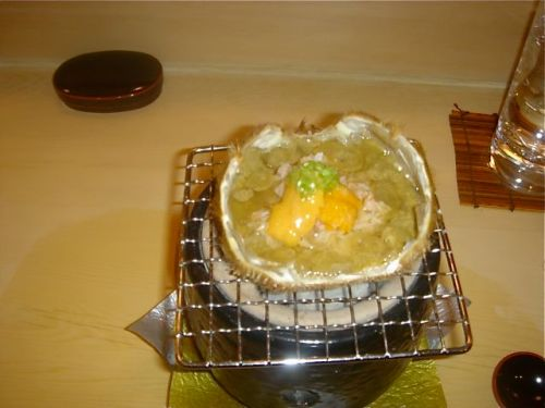 urasawa-crab-on-brazier