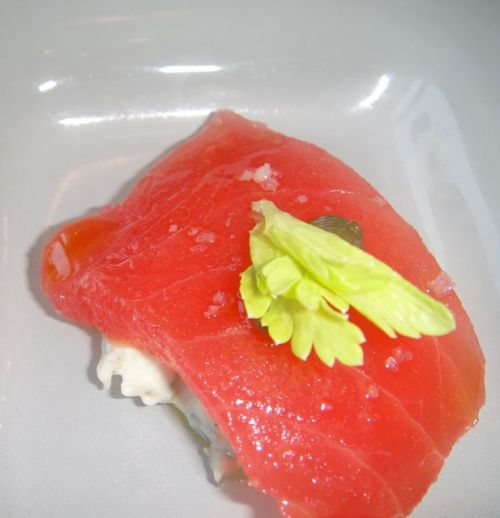 close-up of tuna