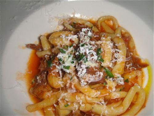 close-up pasta