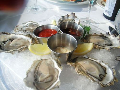 oysters at lobster after lousy