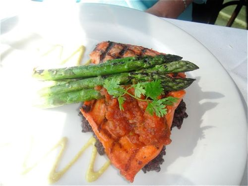 salmon at lobster