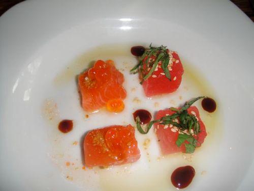 Salmon cube