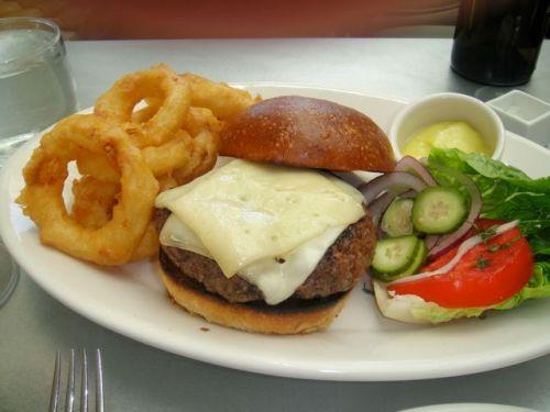 Burger at tavern