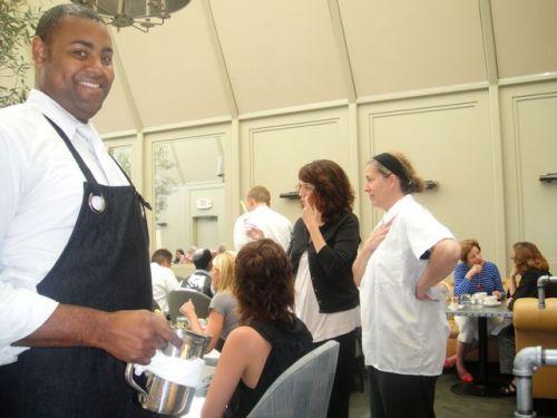 chef, waiter and hostess at Tavern