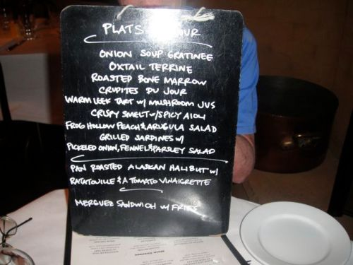 Jeanty menu