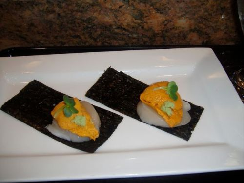 Takao scallop and uni