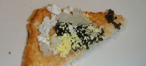 Toast point with caviar