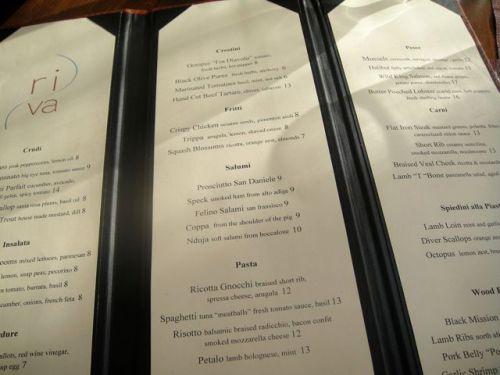Riva menu