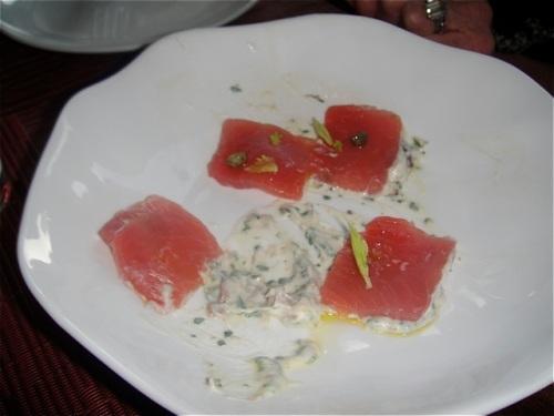 tuna with sauce