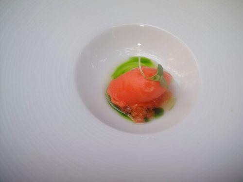 Spago tomato sorbet