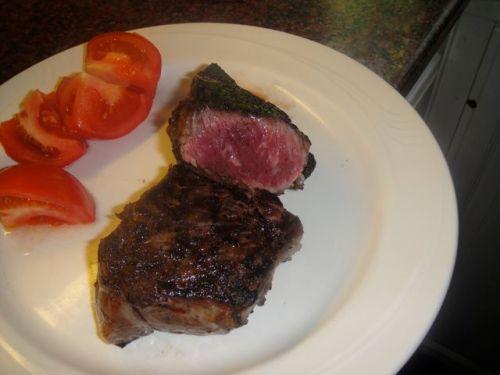 steak served