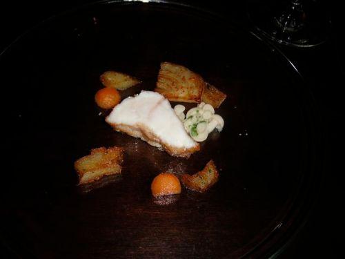Roasted wild atlantic monkfish, jerusalem artichoke, braised bacon ...