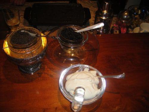 caviar and creme fraiche