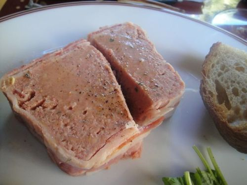 Bouchon close up of pate
