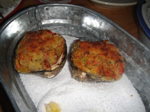 Connie-baked oysters
