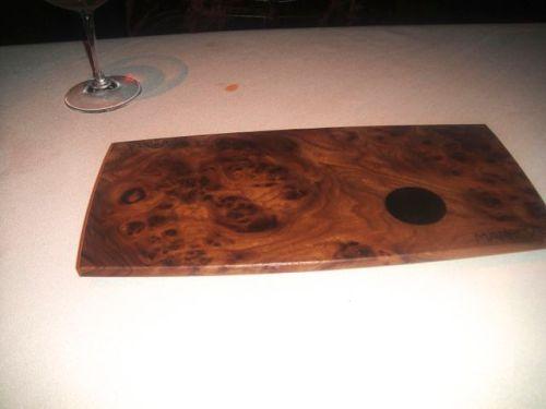 man- presentation plate