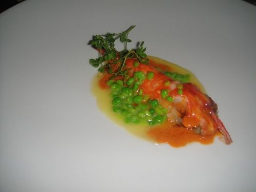 P - Spot Prawn with sauce