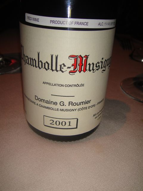 M- Chambolle wine