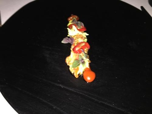 5.sanata barbara spot prawn, jimmy nardelo peppers, cilantro